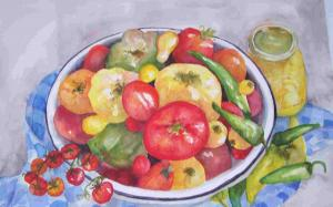 Watercolor Artist Sandy Collier In Food Show